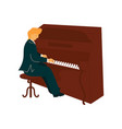 male musician playing piano pianist vector image