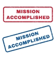 Mission Accomplished Rubber Stamps vector image vector image