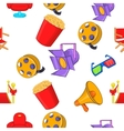 Motion picture pattern cartoon style vector image