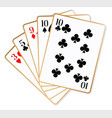 one pair playing cards vector image vector image