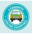 online car sale design vector image