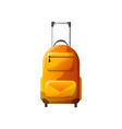 orange polycarbonate suitcase with wheels vector image vector image