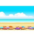 Parasols At The Beach vector image vector image