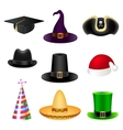 Party hat set vector image vector image