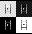 play video icon isolated on black white and vector image
