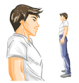 Profile of handsome young man vector image
