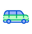 Public transport automobile thin line icon