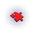 Puzzle icon comics style vector image vector image
