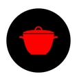 Saucepan simple Icon vector image vector image
