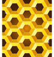 Seamless golden yellow honeycomb pattern vector image vector image