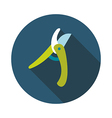 Secateurs pruner averruncator flat icon vector image