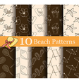 set of 10 summer seamless patterns vector image vector image