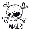 skull1 black vector image vector image