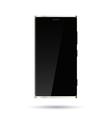 Smartphone black screen template vector image