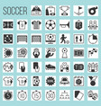 soccer silhouette icons vector image vector image