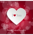 Speech bubble Valentines day backround vector image vector image