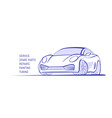 sport car line style racing auto vector image vector image