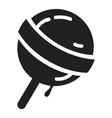 sweet lollipop icon simple style vector image