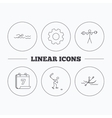 Swimming hockey and kayaking icons vector image vector image