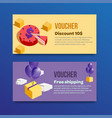 voucher set of two promotions vector image vector image