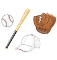 baseball elements vector image