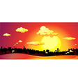 sunset over the city - vector image