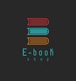 E-book mockup logo internet education or learning vector image