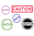 5 Grunge Stamps CAUTION vector image