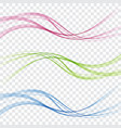 abstract background of wave flow blue green vector image vector image