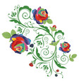 abstract rainbow roses vector image vector image