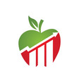 apple logo icon vector image vector image