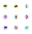Australia icons set pop-art style vector image vector image