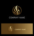 beauty abstract wave cosmetic gold logo vector image vector image