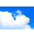 Blurred clouds vector image vector image
