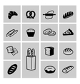 bread icon set vector image vector image