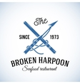 Broken Harpoon Seafood Restaurant Abstract vector image vector image