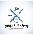 Broken Harpoon Seafood Restaurant Abstract vector image