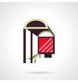 Bus stop with lightbox flat icon vector image