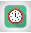 cartoon clock time with shadow and green vector image