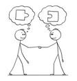 cartoon two men or businessmen or politicians vector image vector image