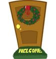 christmas door vector image
