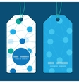 connected dots vertical round frame pattern tags vector image vector image