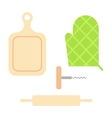 Cutting cooking board with rolling pin vector image vector image