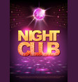 Disco ball background disco poster night club