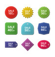 discount stickers special price offer sale labels vector image