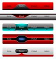 Editable website buttons vector image