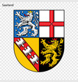 emblem of thuringia province of germany vector image vector image
