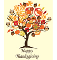 fall tree thank vector image vector image