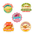 fast food restaurant donut shop cafe bistro icon vector image vector image