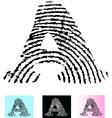 Fingerprint Alphabet Letter A vector image vector image